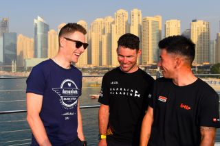 UAE Tour 2020 2nd Edition Top Riders Photo Shooting and Press Conference 22022020 Sam Bennett IRL Deceuninck Quick Step Caleb Ewan AUS Lotto Soudal Mark Cavendish GBR Bahrain McLaren photo Dario BelingheriBettiniPhoto2020