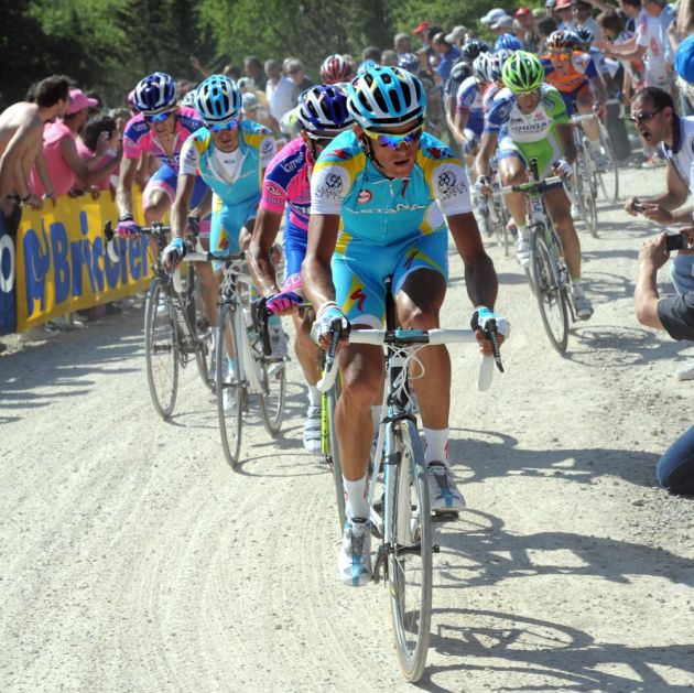 Roman Kreuziger leads, Giro d'Italia 2011, stage five