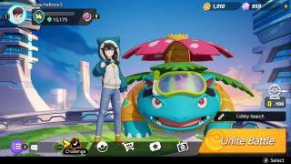 Trainer screens from Pokemon Unite on Nintendo Switch