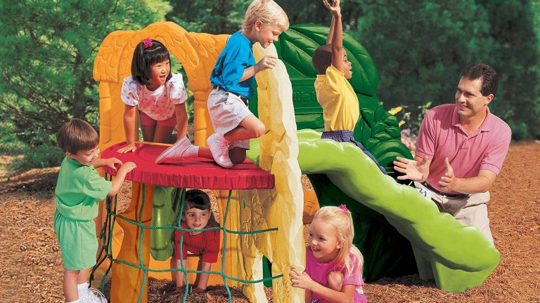 best climbing frame: Little Tikes Jungle Climber With Wave Slide