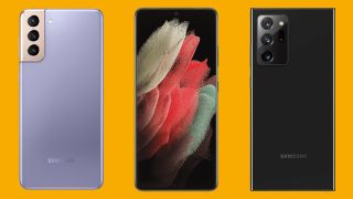 The best Samsung phones including the Galaxy S21 Plus, S21 Ultra and Note 20 Ultra