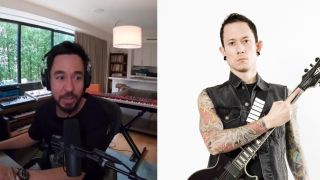 Image of Mike Shinoda video on left and Matt Heafy on right