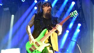 Fieldy performing with Korn
