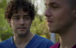 Lofty (Lee Mead) searches for answers with Dom