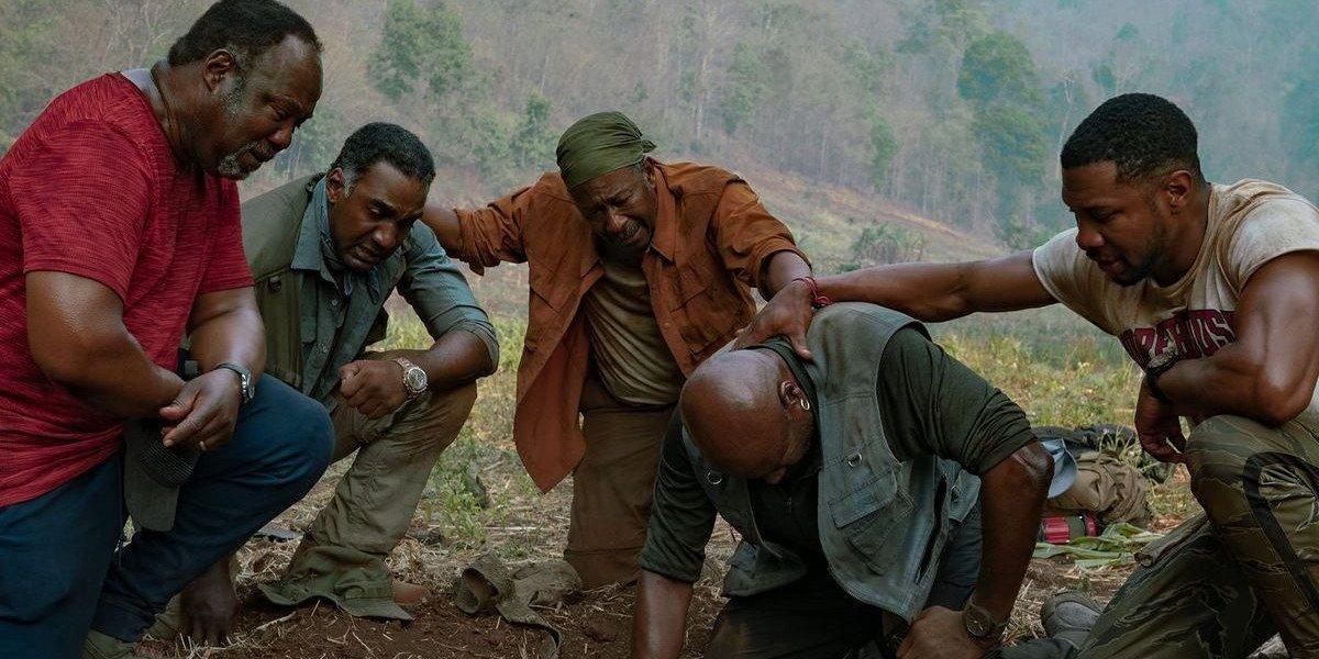 The cast of Da 5 Bloods (2020) including Delroy Lindo