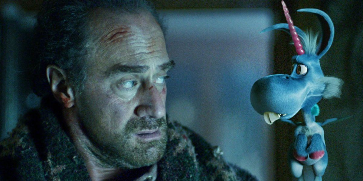 Christopher Meloni and Patton Oswalt in Happy!
