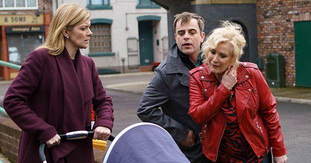 Steve, Leanne, Liz, baby Oli