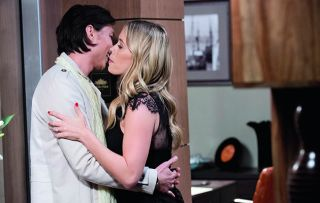Courtney Grixti makes a move on Leo Tanakar in Neighbours.
