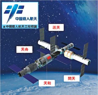 An artist's illustration of China's possible future space station.