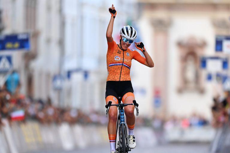 Ellen van Dijk wins the European Championships road race