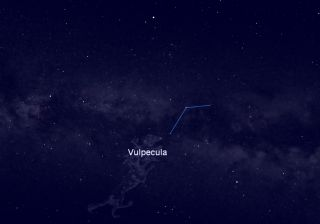 Constellation Vulpecula Sky Map August 2012