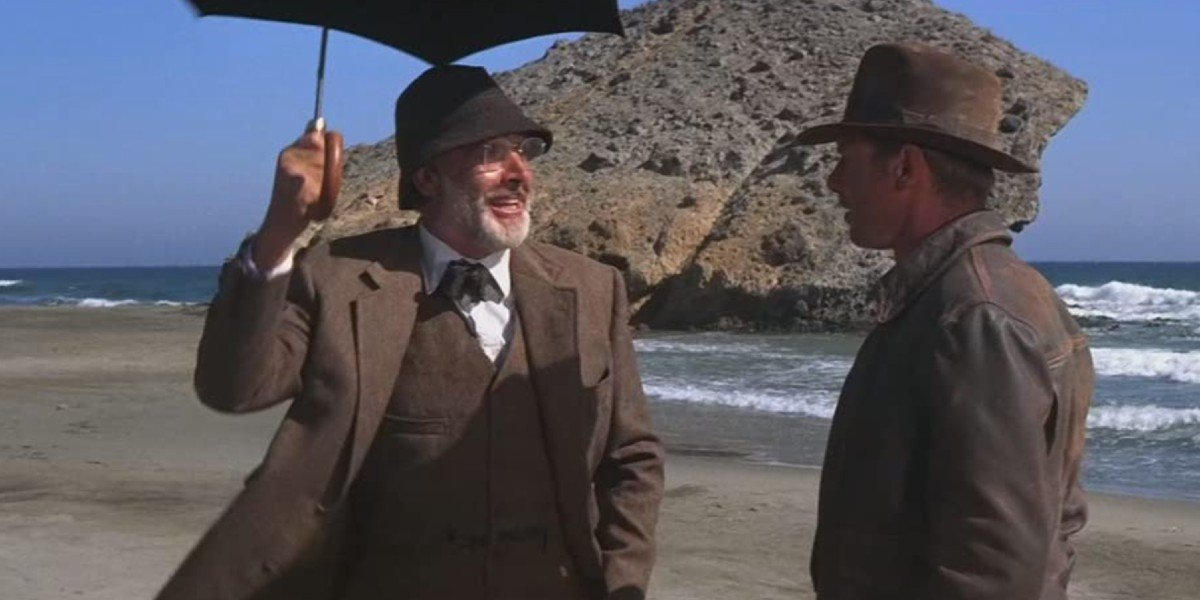 Sean Connery and Harrison Ford in Indiana Jones and the Last Crusdae
