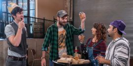 Netflix's Brews Brothers Stars Talk Cheers Comparison, Bud Light Jokes And The Problems With Fake Beer