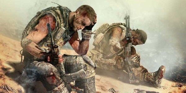 Soldiers rest Spec Ops: The Line