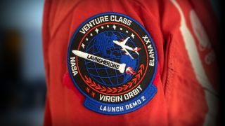 The patch logo for Virgin Orbit's Demo 2 test mission.