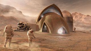 3D printed Mars habitat