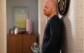 Max Branning looks thoughtful as he thinks about how to get a character reference