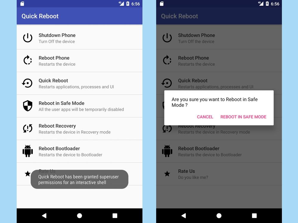 best root apps: Quick Reboot