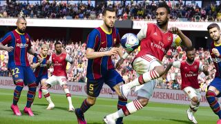 pes efootball 2022 - players battling for the football