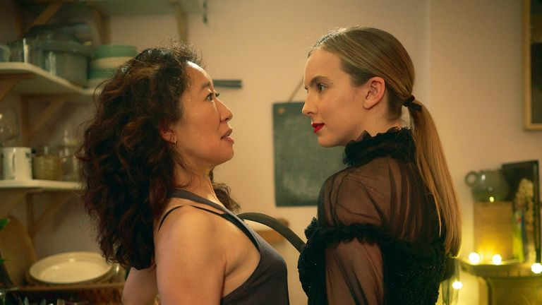 Sandra Oh and Jodie Comer in BBC's Killing Eve