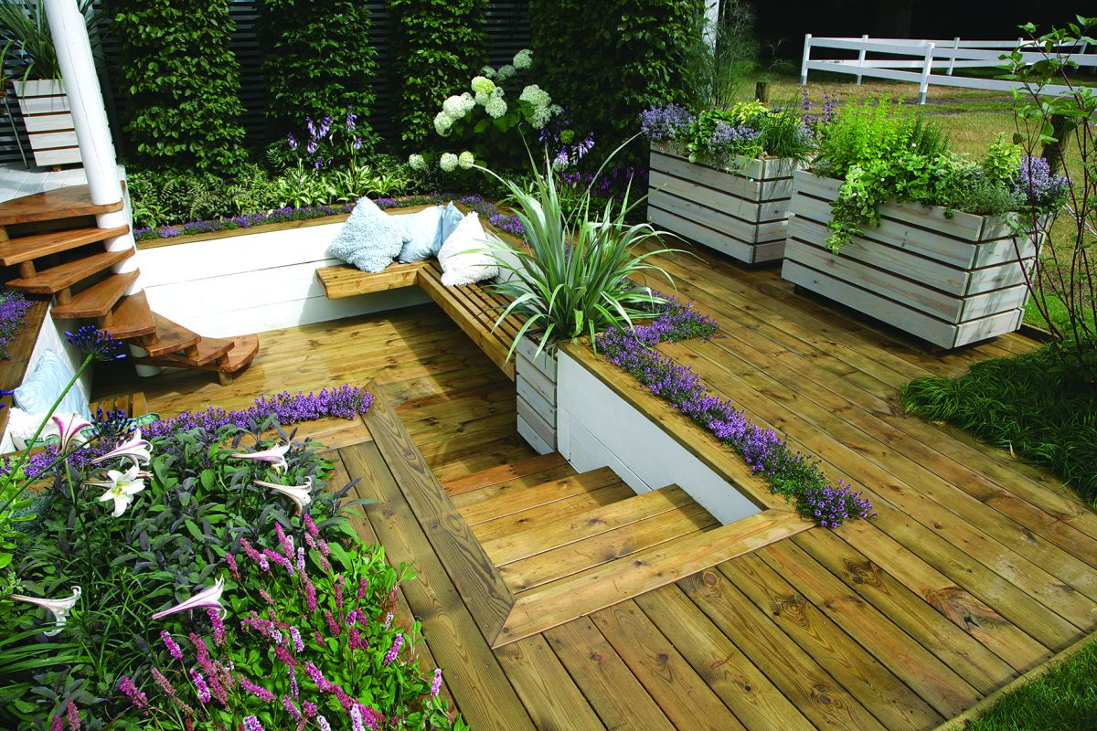 10 small garden decking ideas real homes - Deck ideas for home ...