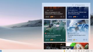 Windows 10 taskbar News and Interests