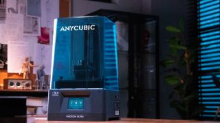 A press shot of the AnyCubic Photon UItra 3D printer on a desk