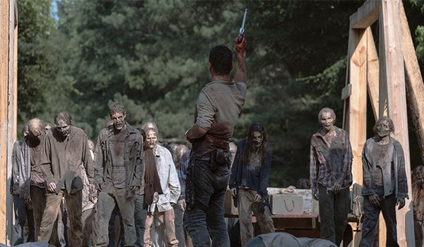 Andrew Lincoln, as Rick Grimes, saves the day on AMC's The Walking Dead