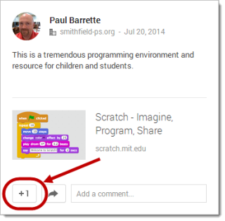 Google+ 21 Day Challenge: Day 5 - +1s on Posts and Comments
