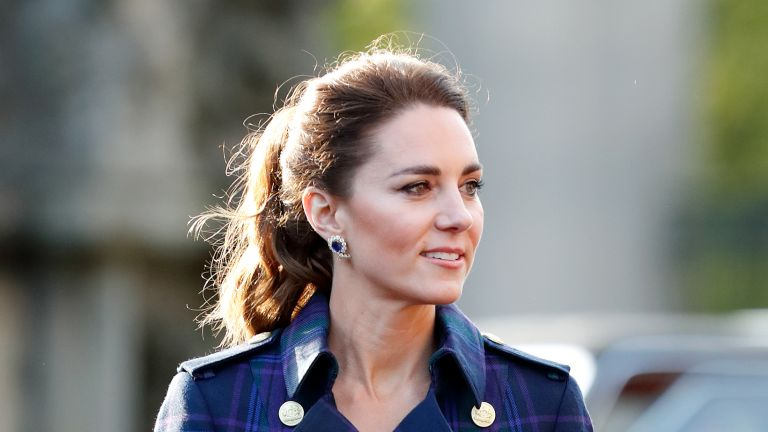 Catherine, Duchess of Cambridge hosts a drive-in cinema screening of Disney's 'Cruella' for Scottish NHS workers at The Palace of Holyroodhouse on May 26, 2021 in Edinburgh, Scotland