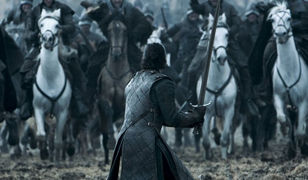 Jon Snow faces Ramsay Bolton's army in Battle Of The Bastards on HBO's Game Of Thrones