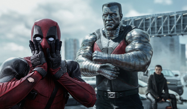 Deadpool shocked with Colossus and Negasonic Teenage Warhead In Deadpool 2016