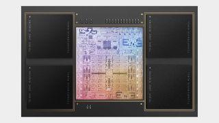 Apple M1 processor pictured.