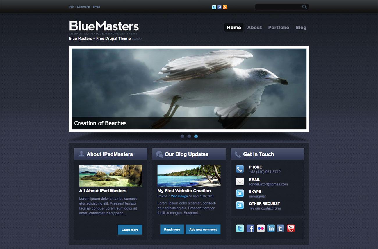 Free Drupal themes: BlueMasters