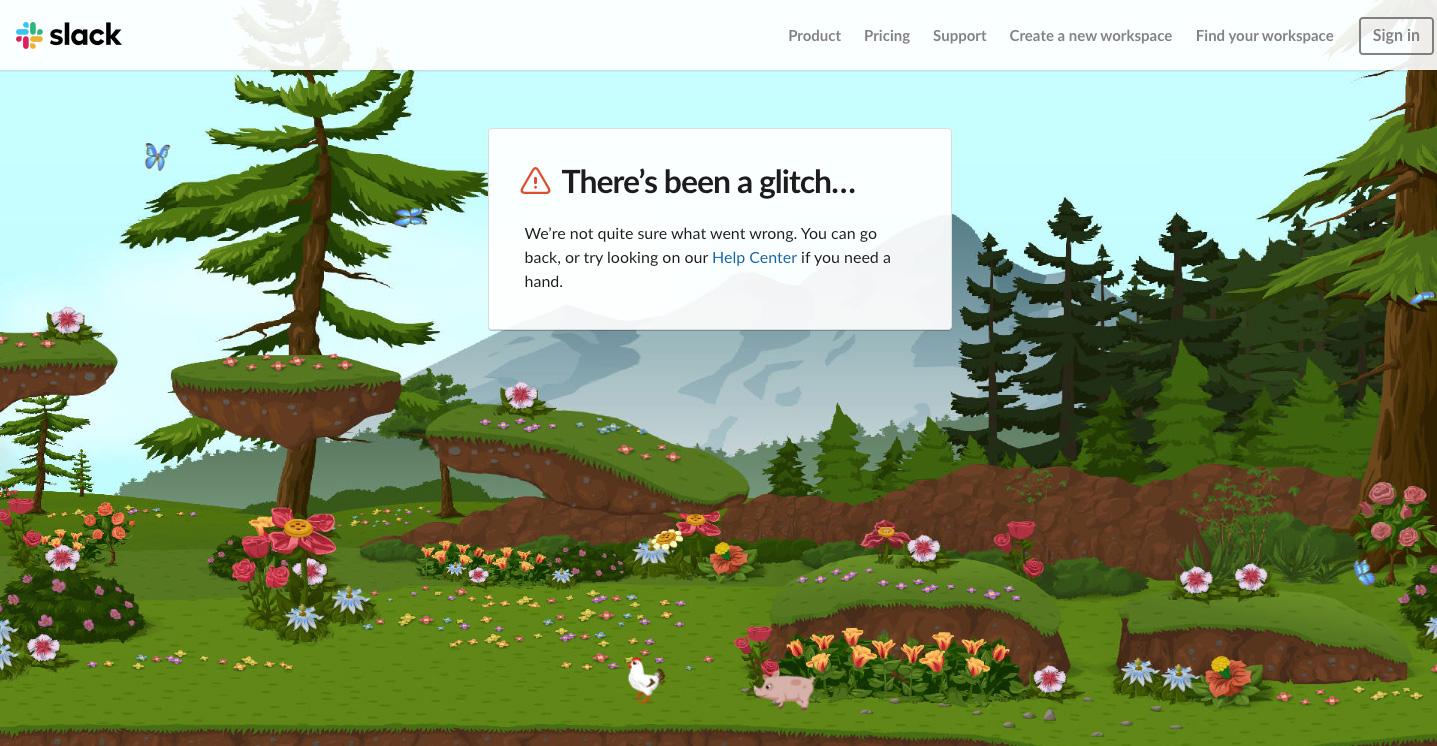 404 page: Slack