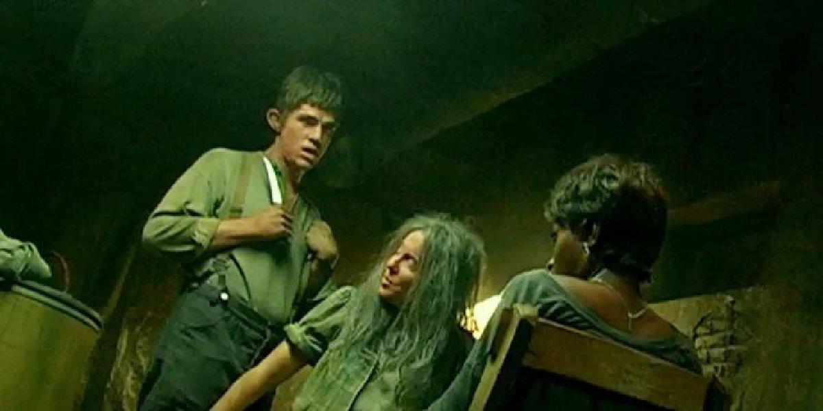 Finn Wittrock as Jether Polk with Mama Polk in American Horror Story: Roanoke.