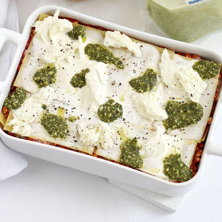 Turkey Pesto Lasagne Recipe