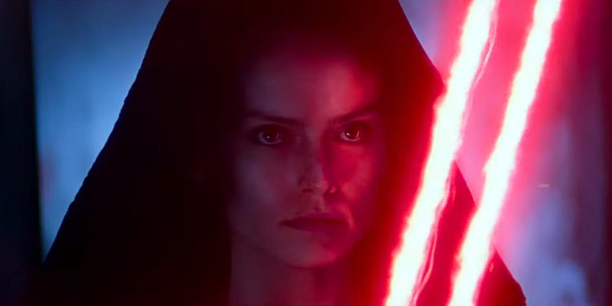 Daisy Ridley as Evil Rey in Star Wars: The Rise of Skywalker