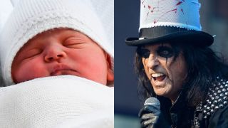 Alice Cooper and baby