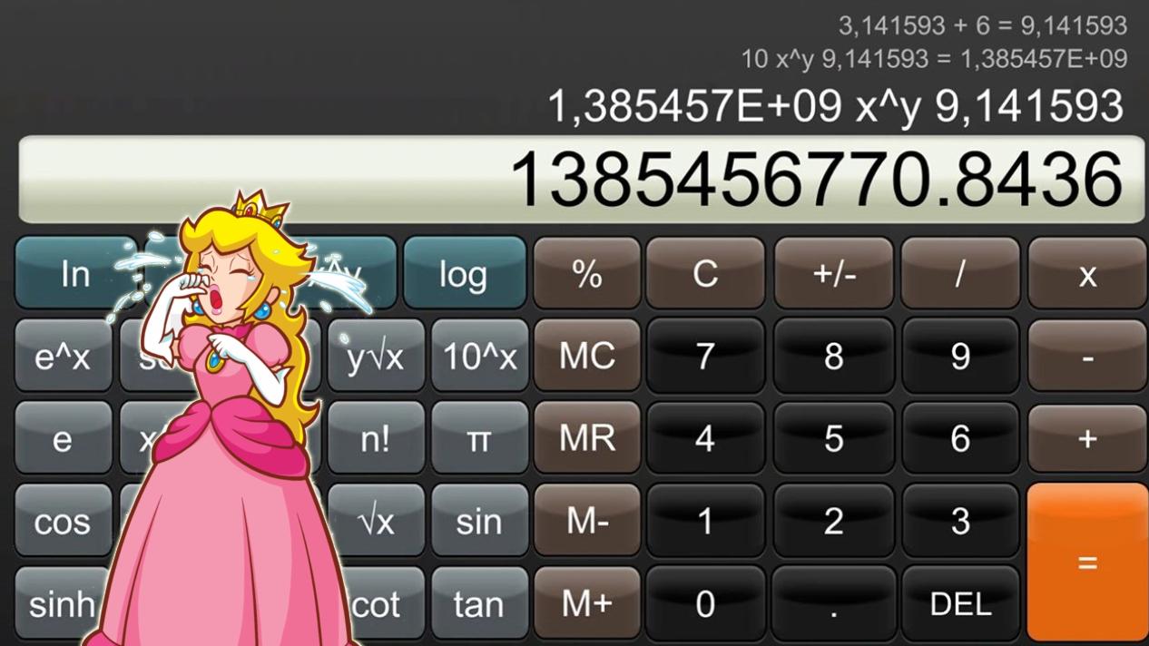 Calculator app Nintendo Switch