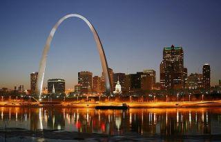 St. Louis skyline by night