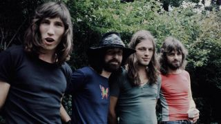 Pink Floyd's Roger Waters, Nick Mason, Dave Gilmour, Rick Wright