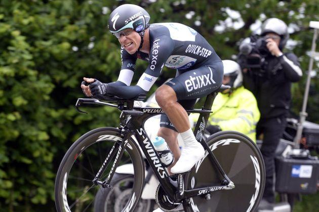 Rigoberto Uran on stage twelve of the 2014 Giro d'Italia