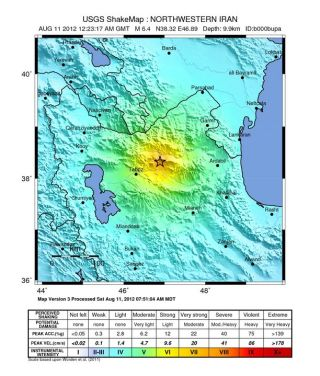 Earthquake in northwestern Iran.