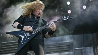 Dave Mustaine of Megadeth performs at Charlotte Motor Speedway on May 7, 2016 in Concord, North Carolina