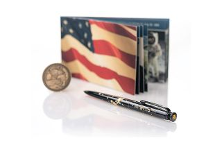 Each of Fisher Space Pen's new Apollo 11 50th Anniversary Astronaut Pens includes a piece of moon-flown Kapton polyimide tape.