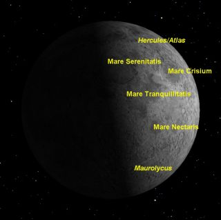 Great Time to Observe the Moon and Its 'Seas'
