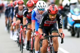 PONTIVY FRANCE JUNE 28 Thomas De Gendt of Belgium and Team Lotto Soudal leads The Peloton during the 108th Tour de France 2021 Stage 3 a 1829km stage from Lorient to Pontivy LeTour TDF2021 on June 28 2021 in Pontivy France Photo by Michael SteeleGetty Images
