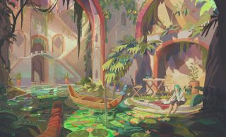 Painting over a 3D environment