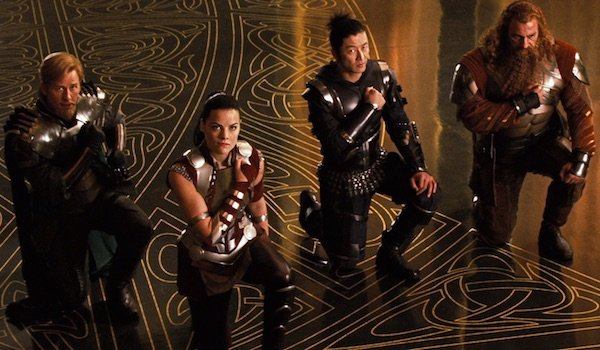 Lady Sif and the Warriors Three in Thor